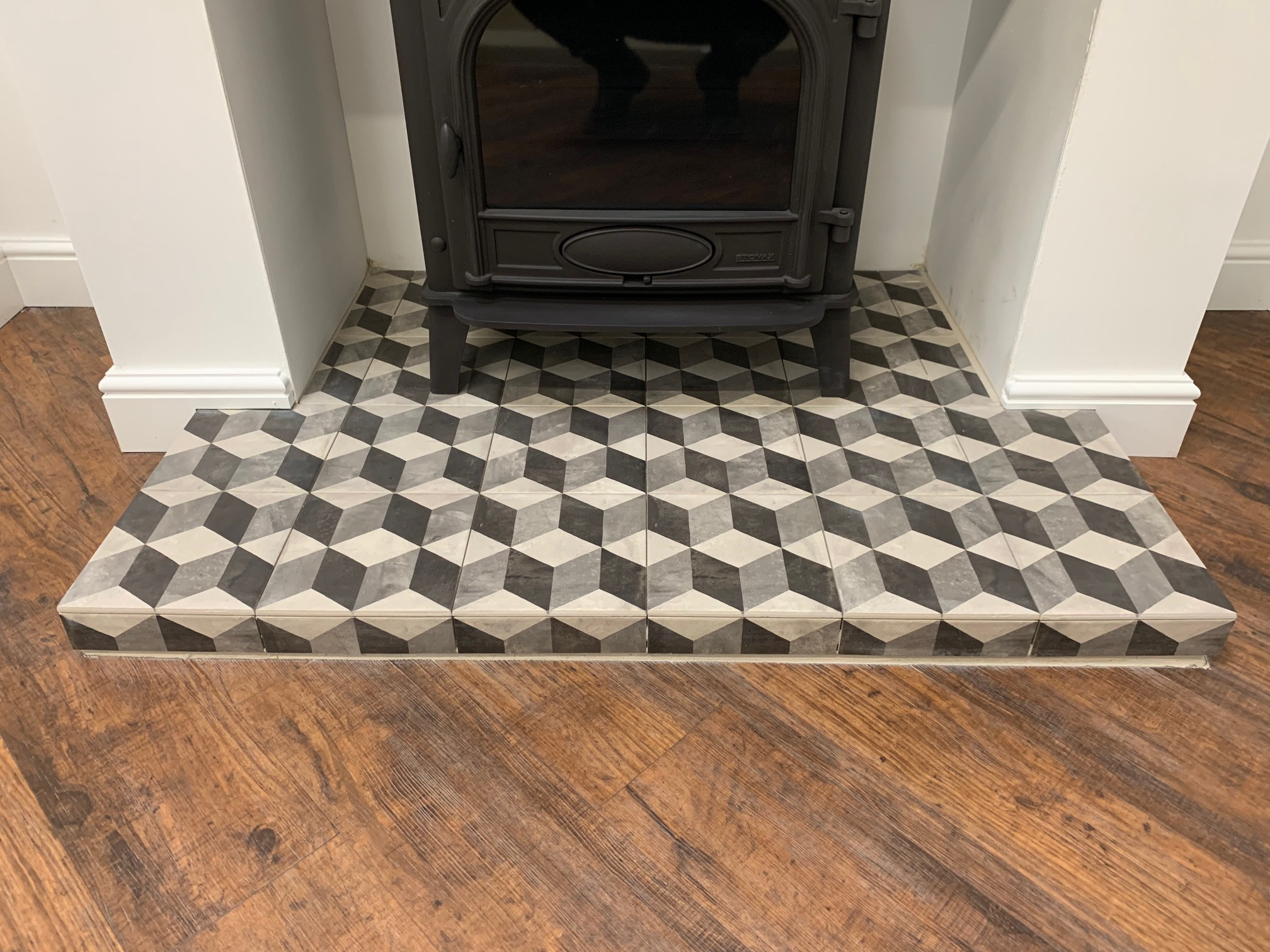 Block Tiled Hearth Yorkshire Stoves Fireplaces