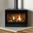 gazco rive2 f670 with brick effect lining
