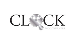 clock wood burners logo