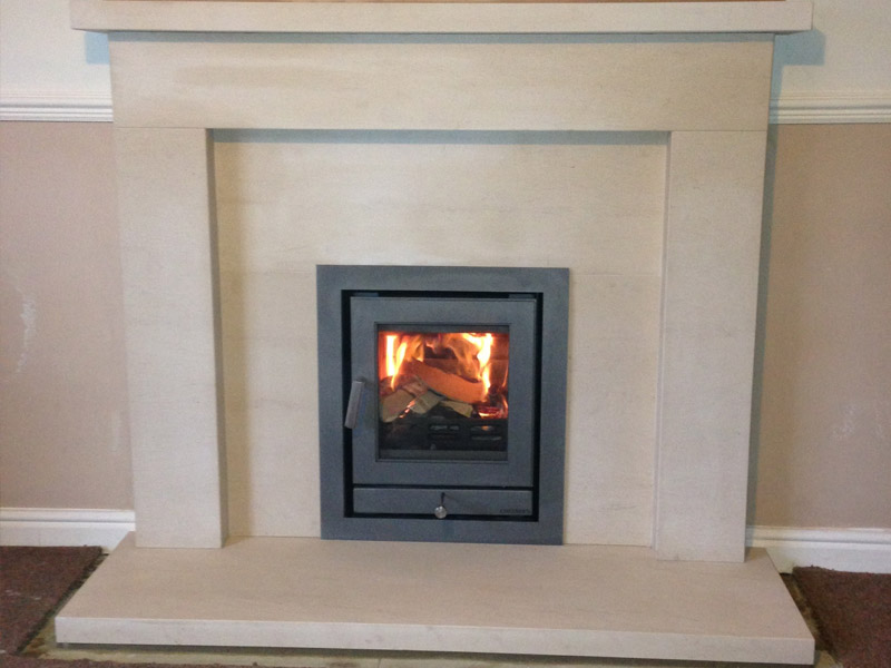 made to measure limestone fireplace