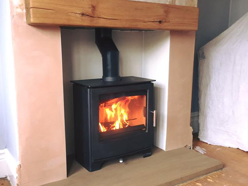 wood burning stove in birstall