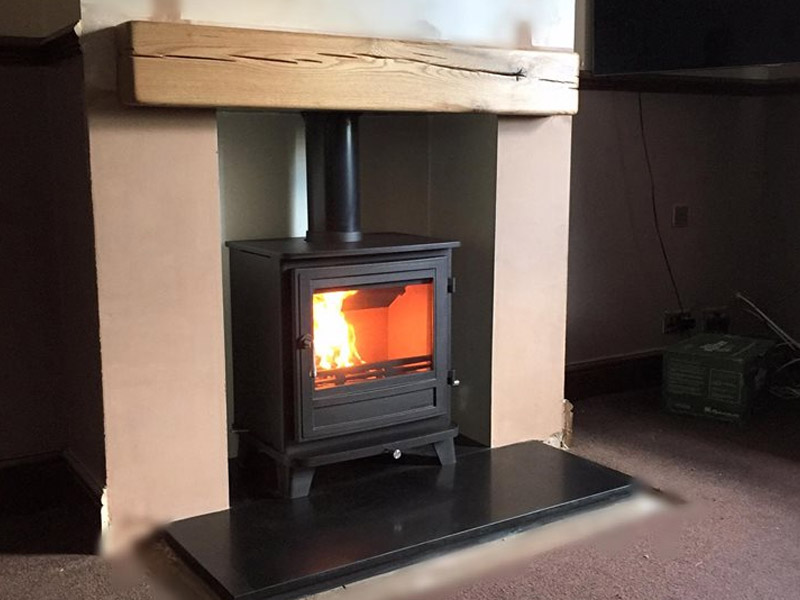 Chesney's Salisbury 8kw multi fuel stove.